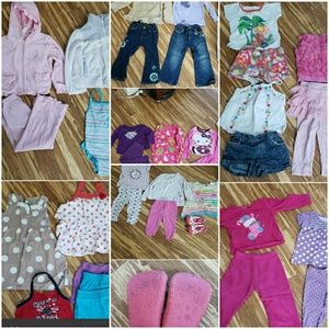 Girl clothes size 3t and new skidder shoes 36pcs
